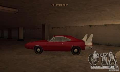 Dodge Charger Daytona 1969 para GTA San Andreas esquerda vista