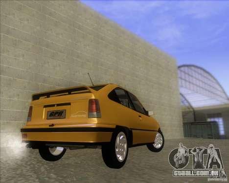 Chevrolet Kadett GSi 2.0 (1991-1995) para GTA San Andreas traseira esquerda vista