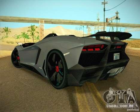 Lamborghini Aventador J para GTA San Andreas esquerda vista