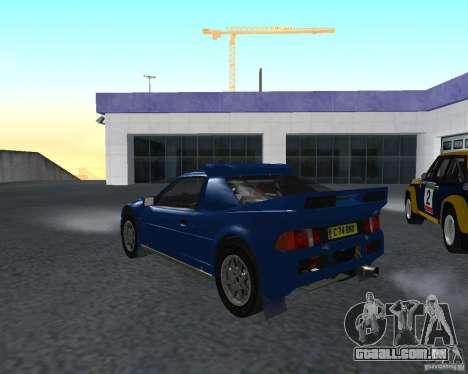 Ford RS 200 para GTA San Andreas traseira esquerda vista