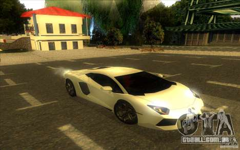 Lamborghini Aventador LP700-4 para GTA San Andreas vista inferior