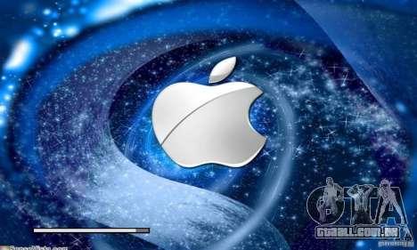 A tela de inicialização de Apple para GTA San Andreas quinto tela