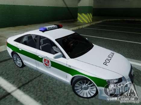 Audi A6 Police para GTA San Andreas esquerda vista