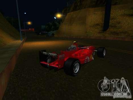 Ferrari F1 para GTA San Andreas esquerda vista