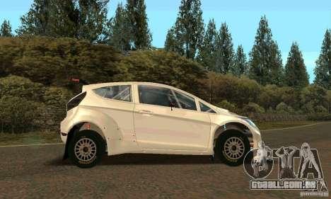 Ford Fiesta Rally para as rodas de GTA San Andreas
