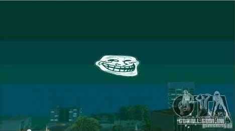 Trollface Moon para GTA San Andreas segunda tela