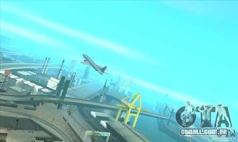 Revitalização dos aeroportos para GTA San Andreas por diante tela