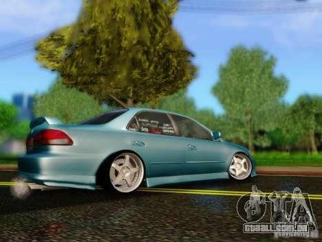 Honda Accord 2001 para GTA San Andreas esquerda vista