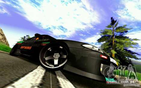 Nissan Silvia S15 Drift Works para GTA San Andreas vista superior
