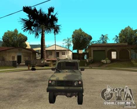 UAZ-3172 para GTA San Andreas vista traseira