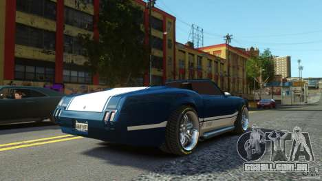 Sabre GT II Vinyl Roof para GTA 4 esquerda vista
