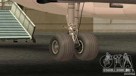 Boeing 727-200 Final Version para GTA San Andreas vista traseira