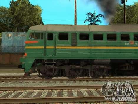 Estados bálticos locomotiva frete ferroviário im para GTA San Andreas vista direita
