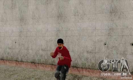 Substituto de pele Bmyst para GTA San Andreas quinto tela