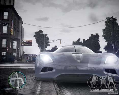 Koenigsegg Agera para GTA 4 vista de volta
