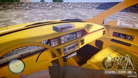 Chevrolet Caprice Taxi para GTA 4 vista de volta