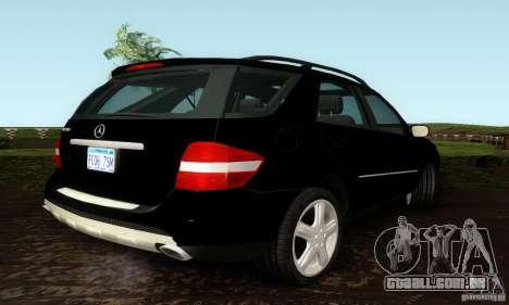 Mercedes-Benz ML500 para GTA San Andreas traseira esquerda vista
