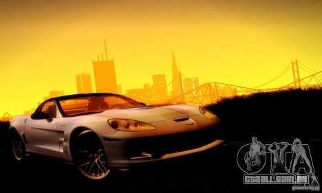 Chevrolet Corvette ZR-1 para GTA San Andreas interior
