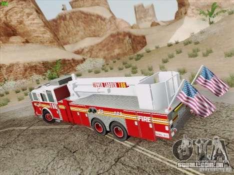 Seagrave Marauder. F.D.N.Y. Tower Ladder 186 para GTA San Andreas traseira esquerda vista