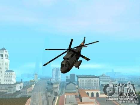 Enterable Leviathan para GTA San Andreas traseira esquerda vista