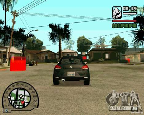 Volswagen Scirocco para GTA San Andreas vista traseira
