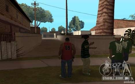 Grove Street Skin Pack para GTA San Andreas por diante tela