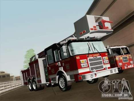 Pierce Rear Mount SFFD Ladder 49 para as rodas de GTA San Andreas