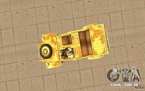 Kuebelwagen v2.0 desert para GTA San Andreas vista direita