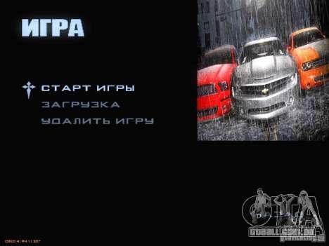 Arrancar a tela e menu mundo Mishin v2 para GTA San Andreas sétima tela