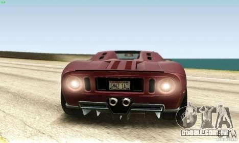 Ford GTX1 Roadster V1.0 para GTA San Andreas vista traseira