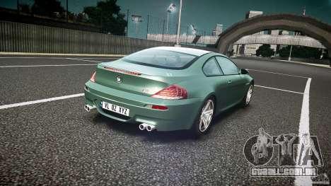 BMW M6 v1.0 para GTA 4 vista superior
