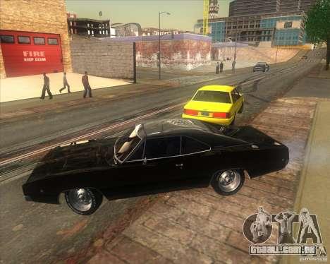 Dodge Charger RT 1968 para GTA San Andreas traseira esquerda vista