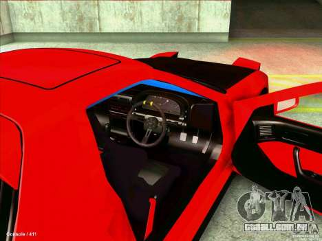 Mazda RX7 para GTA San Andreas vista interior