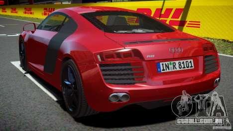 Audi R8 V8 2008 v2.0 para GTA 4 esquerda vista