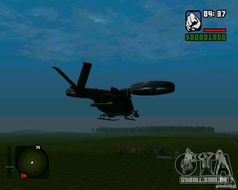 SA-2 Samson para GTA San Andreas traseira esquerda vista