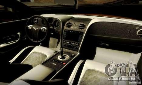 Bentley Continental Supersports para GTA San Andreas vista direita