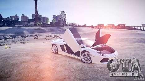 Lamborghini Aventador LP700-4 v1.0 para GTA 4 vista interior