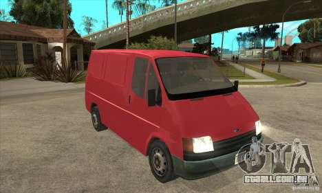 Ford Transit para GTA San Andreas vista interior