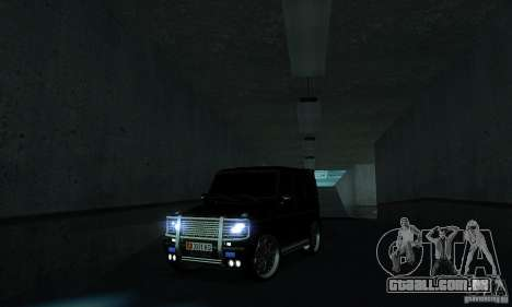 Mercedes Benz G500 ART FBI para GTA San Andreas vista interior