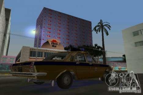 GAZ-24-milícia para GTA Vice City vista direita