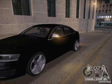 Audi RS6 2009 para GTA San Andreas interior