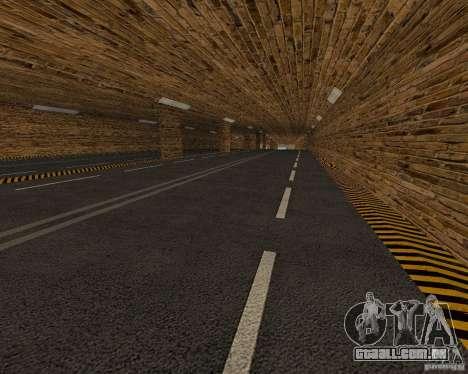 Novas estradas para GTA San Andreas por diante tela