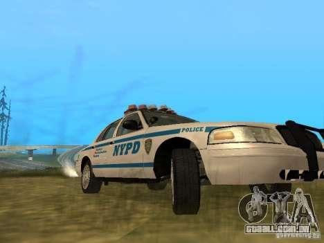 Ford Crown Victoria NYPD Police para GTA San Andreas vista interior