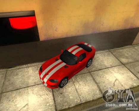 Dodge Viper GTS Coupe para GTA San Andreas vista traseira