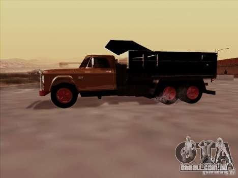 Dodge Dumper para GTA San Andreas vista traseira
