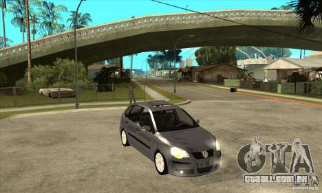 Volkswagen Polo 2008 para GTA San Andreas vista traseira
