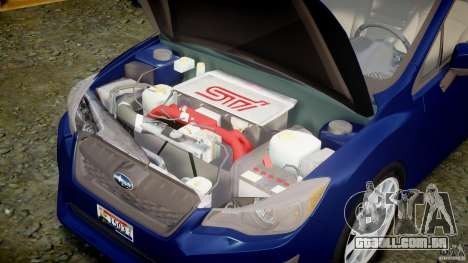 Subaru Impreza Sedan 2012 para GTA 4 vista direita