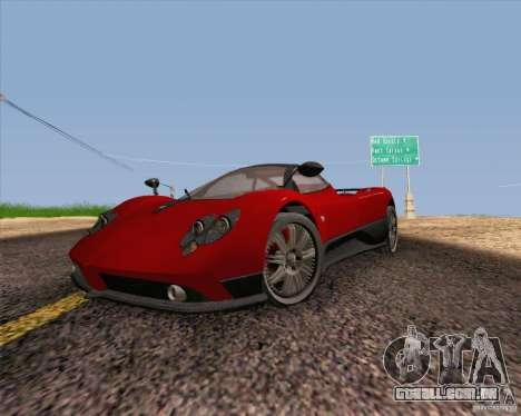 Pagani Zonda F v2 para GTA San Andreas vista traseira