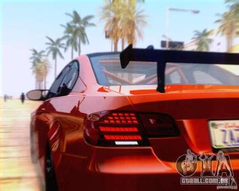 BMW M3 GT-S 2011 para GTA San Andreas vista traseira