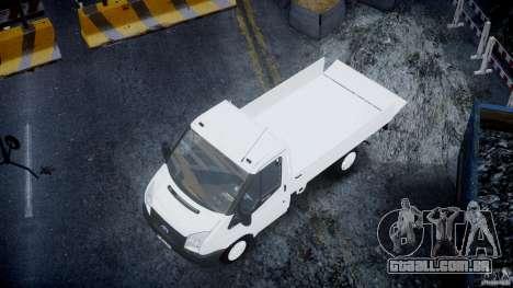 Ford Transit Pickup 2008 para GTA 4 vista inferior